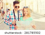 travel  vacation  technology... | Shutterstock . vector #281785502