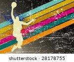 Retro Basketball Poster