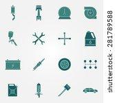 car service icon set   vector...   Shutterstock .eps vector #281789588