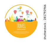 travel and tourism concept... | Shutterstock .eps vector #281792966