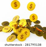 dollar coins meaning american... | Shutterstock . vector #281795138