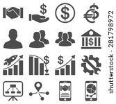 business charts and bank icons. ... | Shutterstock .eps vector #281798972