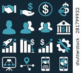 business charts and bank icons. ... | Shutterstock .eps vector #281799932