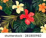 Summer Colorful Hawaiian...