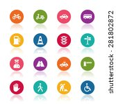 traffic icons | Shutterstock .eps vector #281802872
