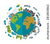eco friendly  green energy... | Shutterstock .eps vector #281803862