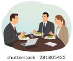 business people are meeting and ... | Shutterstock .eps vector #281805422