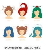 zodiac astrological signs... | Shutterstock .eps vector #281807558