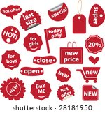 20 red shopping labels   19... | Shutterstock .eps vector #28181950
