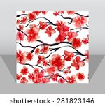 square paper page template in... | Shutterstock .eps vector #281823146