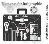 elements for infographic.... | Shutterstock .eps vector #281824502