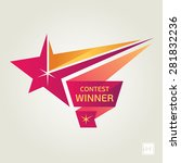 vector contest winner star | Shutterstock .eps vector #281832236