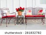 Colorful Wrought Iron Garden...