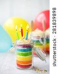 Rainbow Layer Cake In A Jar...