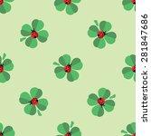 seamless nice green  pattern... | Shutterstock .eps vector #281847686