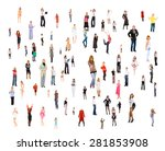 office culture isolated groups  | Shutterstock . vector #281853908