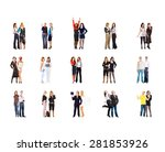standing together team over... | Shutterstock . vector #281853926