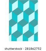 polygon mosaic background... | Shutterstock .eps vector #281862752