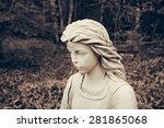 Angel Statue Portrait In Woode...