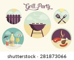 grill party  vector illustration | Shutterstock .eps vector #281873066