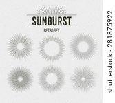 Set Of Retro Sun Burst Shapes....