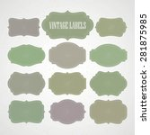 vector set vintage labels and... | Shutterstock .eps vector #281875985