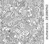 cartoon vector doodles hand... | Shutterstock .eps vector #281880962