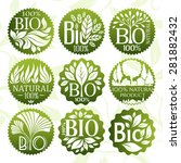 bio and natural product labels... | Shutterstock .eps vector #281882432
