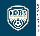 soccer football badge crest... | Shutterstock .eps vector #281888438