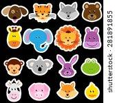 vector zoo animal sticker...   Shutterstock .eps vector #281891855