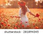 Beautiful Girl In A Poppy Field ...