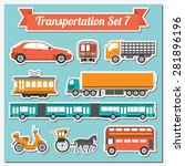 set of all types of transport... | Shutterstock .eps vector #281896196