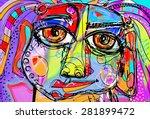 original abstract digital... | Shutterstock .eps vector #281899472