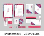 pink and gray with triangle... | Shutterstock .eps vector #281901686