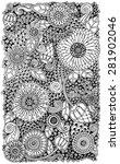 ethnic floral zentangle  doodle ... | Shutterstock .eps vector #281902046