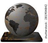 vector illustration steel earth ...   Shutterstock .eps vector #281904842