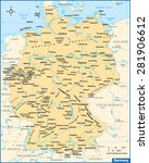 germany country map | Shutterstock .eps vector #281906612