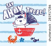 Постер, плакат: Say Ahoy There Cute