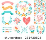 big wedding graphic set...