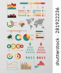 world map infographic. vector... | Shutterstock .eps vector #281922236