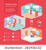 donate blood flat 3d isometric... | Shutterstock .eps vector #281936132