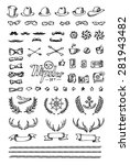 big hipster set. hand draw on... | Shutterstock .eps vector #281943482