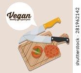 vegan design over white...   Shutterstock .eps vector #281962142