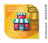 building shop store flat icon... | Shutterstock .eps vector #281966198