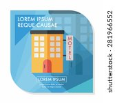 building motel flat icon with... | Shutterstock .eps vector #281966552