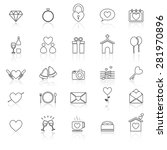wedding line icons with reflect ... | Shutterstock .eps vector #281970896