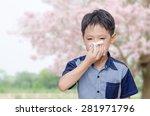 little asian boy has allergies... | Shutterstock . vector #281971796