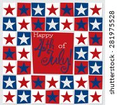 mosaic funky independence day... | Shutterstock .eps vector #281975528