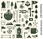 Hand Drawn Camping Icons And...