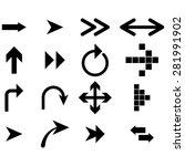 black arrows   vector icon | Shutterstock .eps vector #281991902
